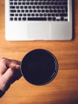 Free stock photo of coffee, cup, mug, desk