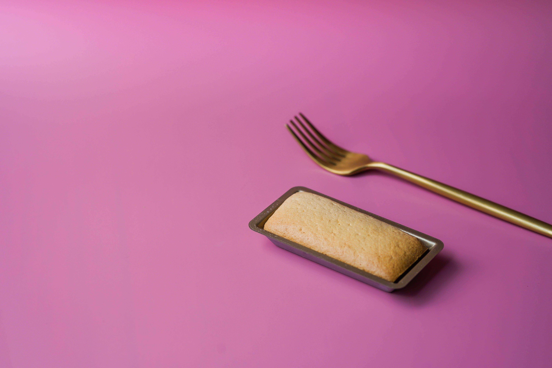 Brown Fork Beside Cake