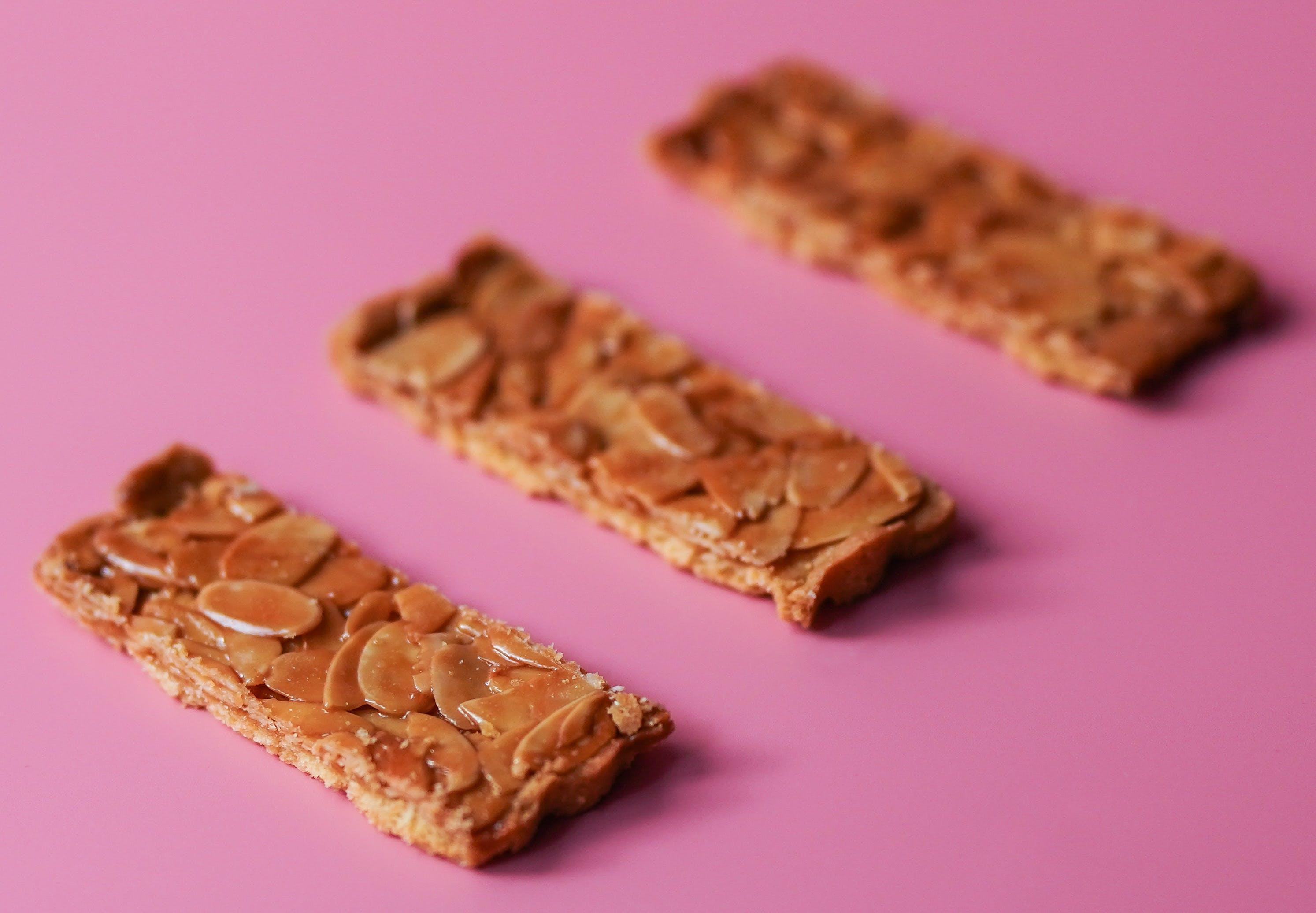 Three Caramel Biscuits