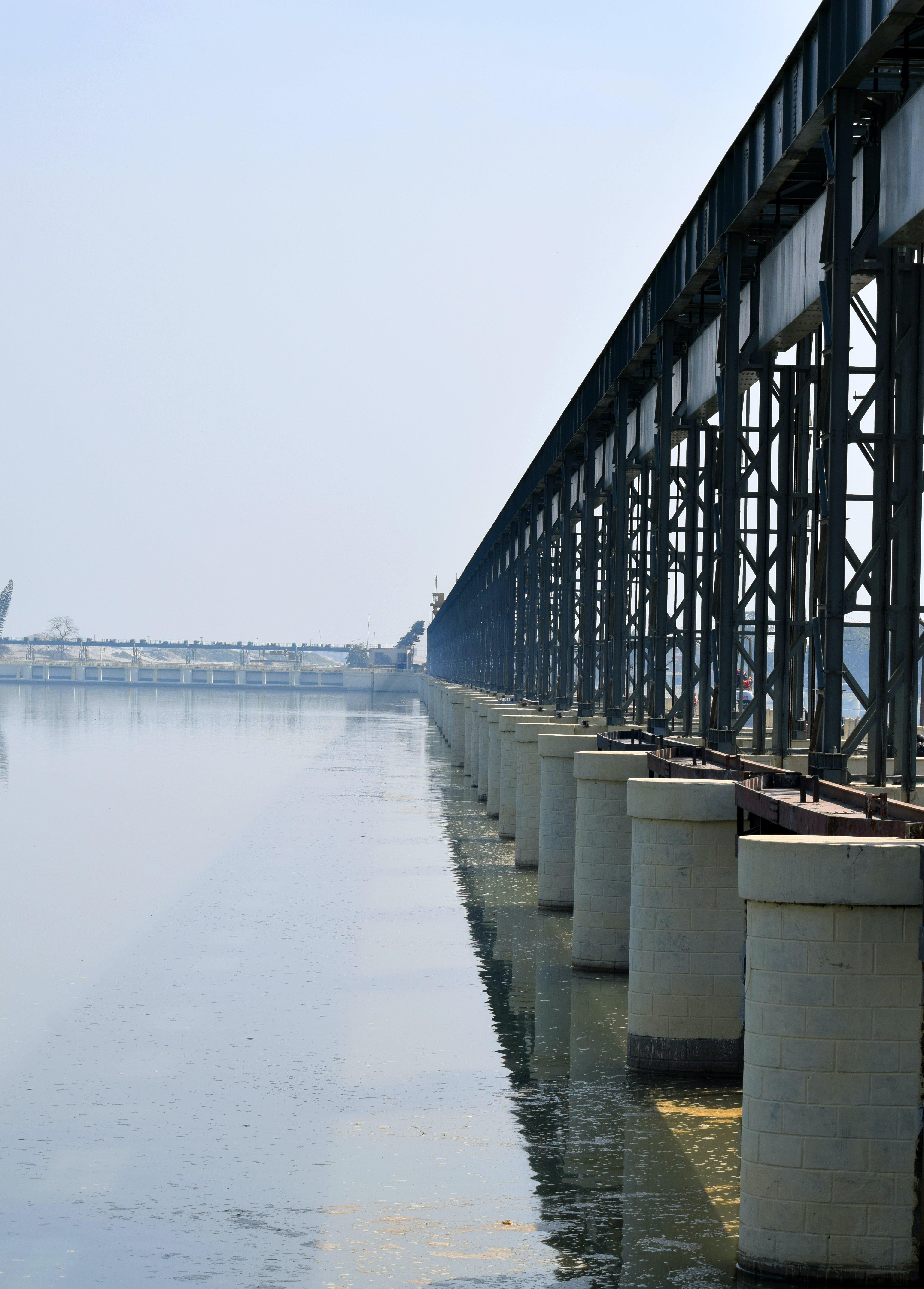 Free stock photo of barrage, bridge, koshi, koshi river
