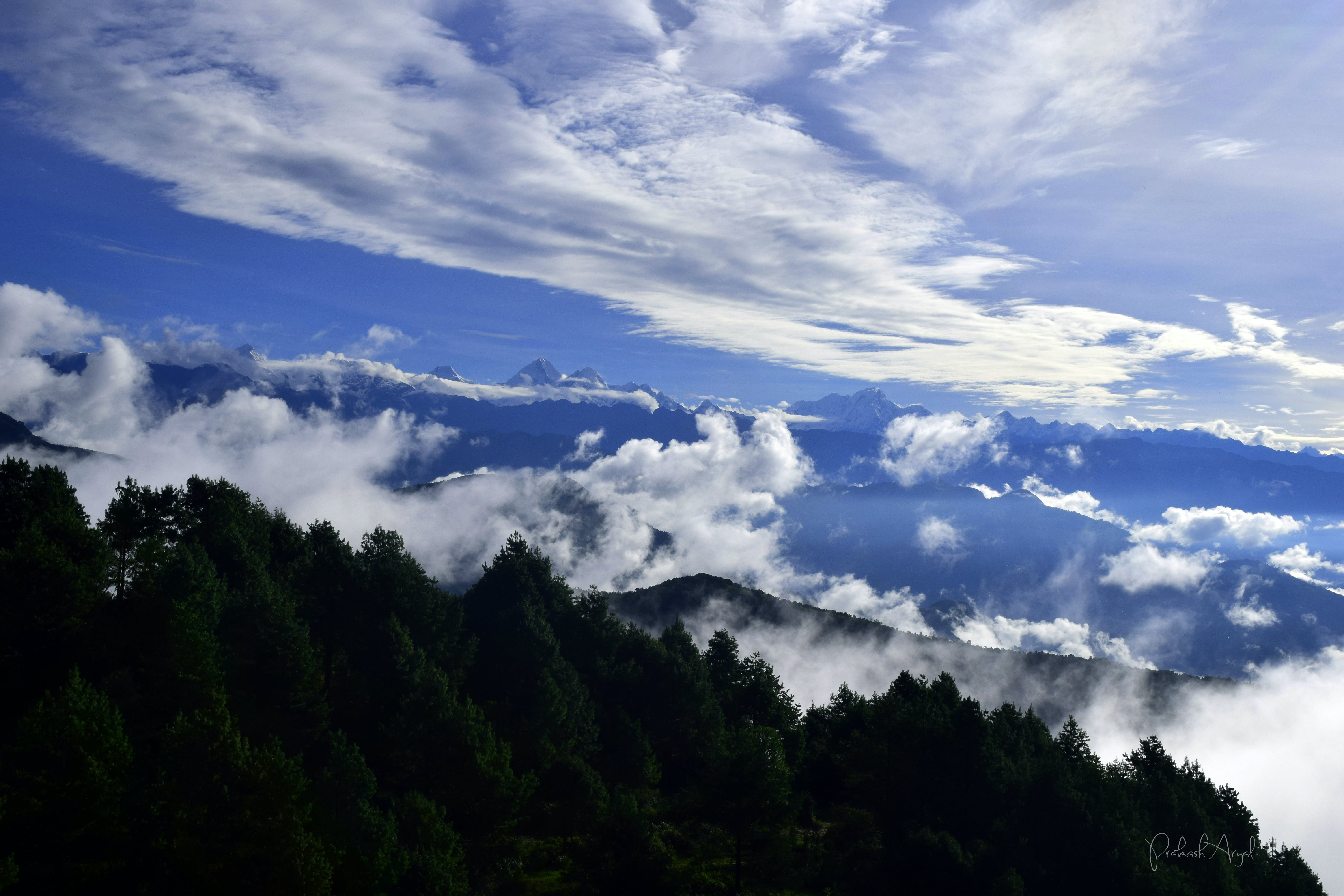 Free stock photo of blue hills, blue mountains, clouds, early morning