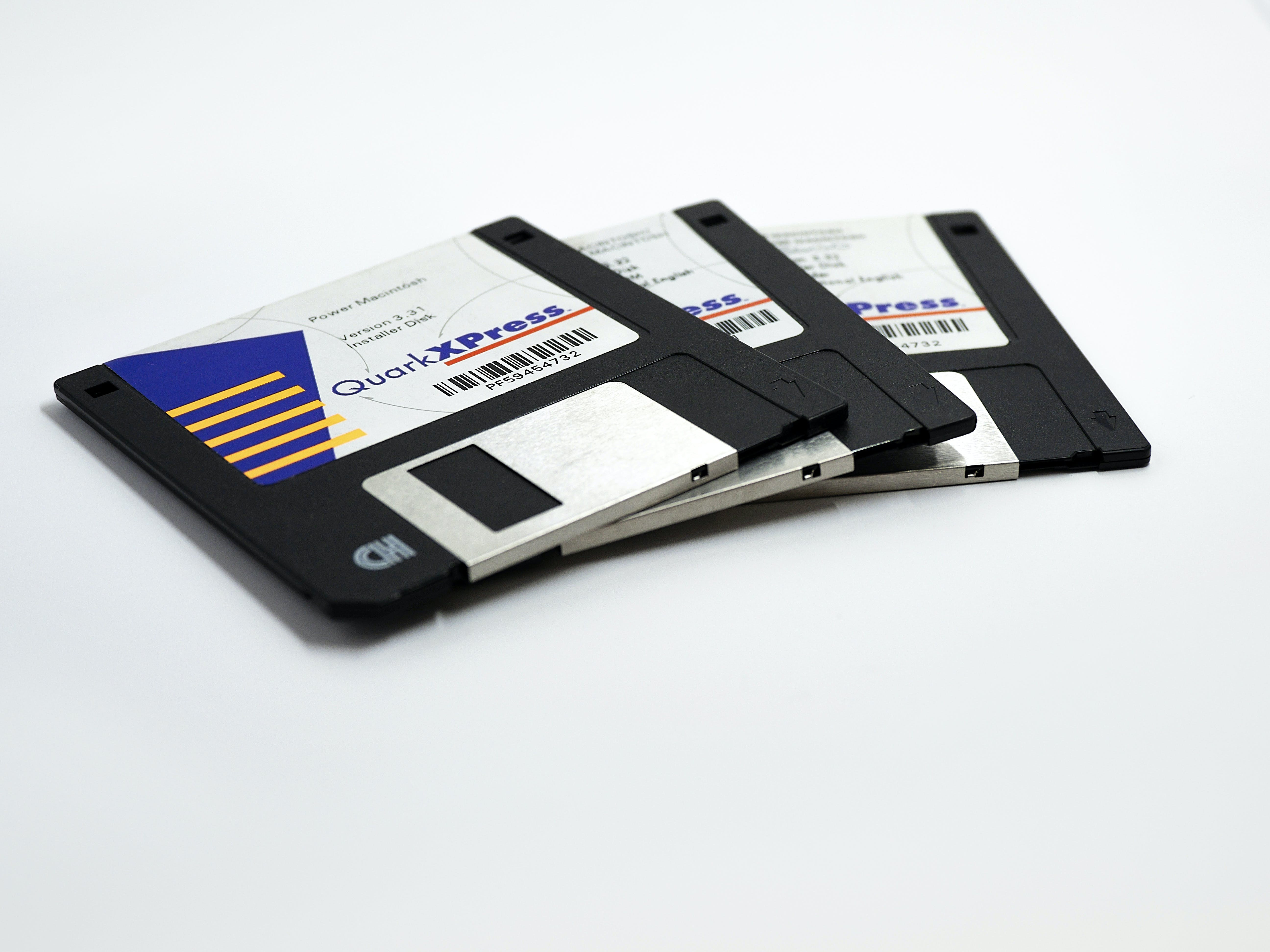 Free stock photo of floppy disk, legacy software, macintosh software, quark xpress