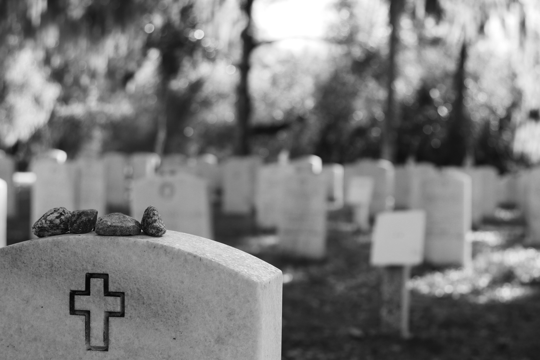 Free stock photo of black and white, bonaventure, cemetery, headstone