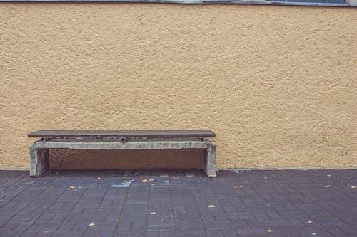 Free stock photo of bench, city, urban, wall
