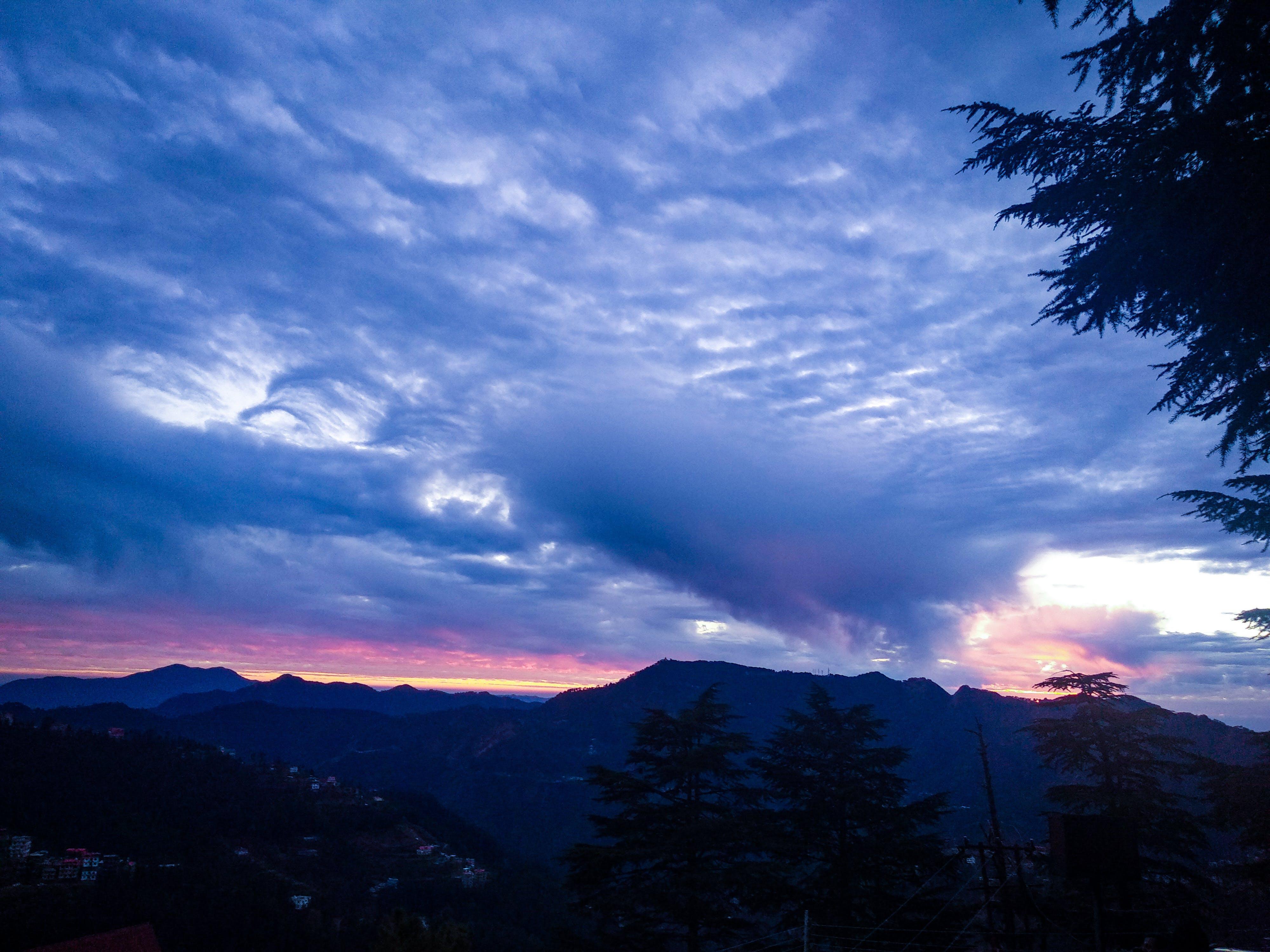 Photos gratuites de coucher de soleil, flanc de coteau, fond de nature, nature