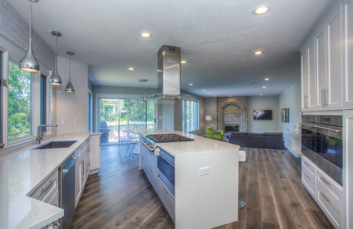 cabinet, cozy home, hardwood floor