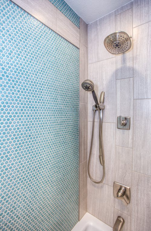 Stainless Steel Shower Head Inside Bathroom