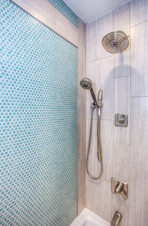 Stainless Steel Shower Head Inside Bathroom