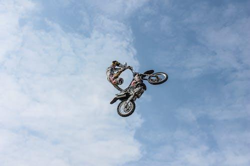 Free stock photo of biker, blue, blue sky, extreme