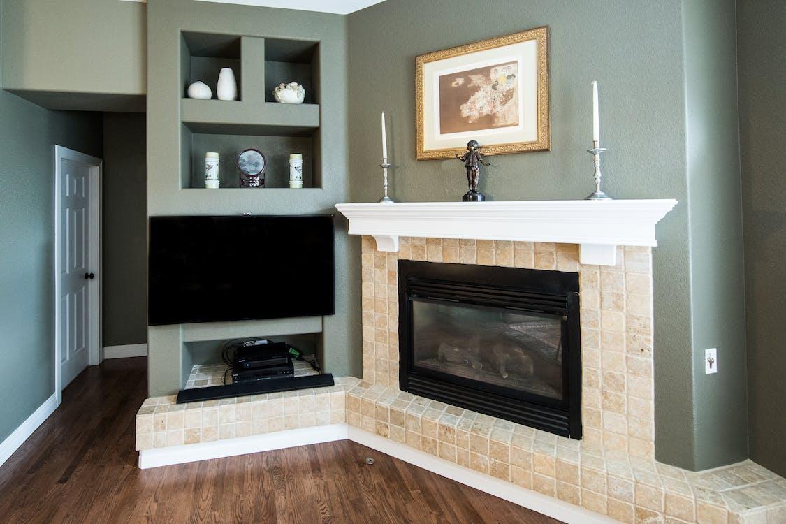 cozy home, fireplace, home decor