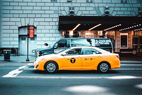 紐約, 紐約城, 街, 計程車 的 免费素材照片