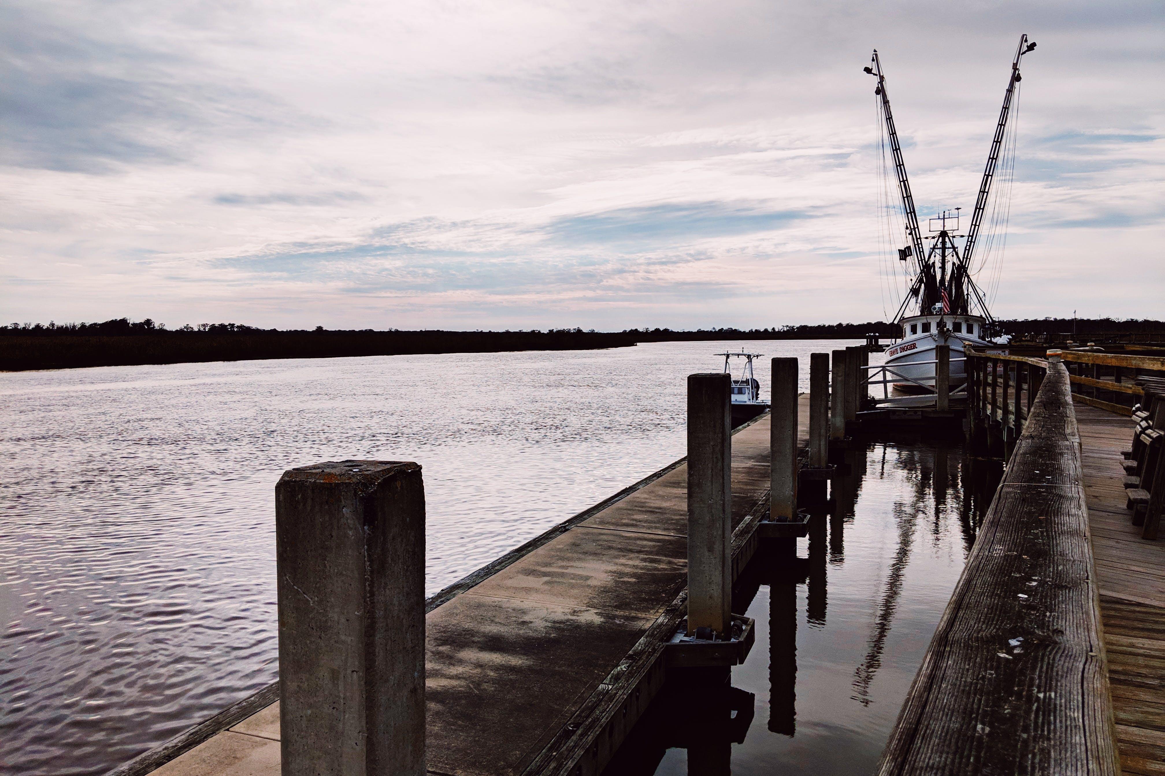 Free stock photo of boat, dock, georgia, sky