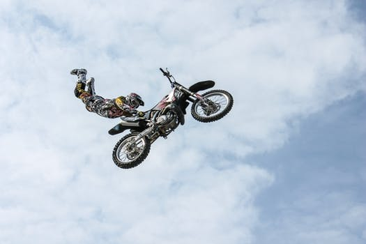 Free stock photo of sky, sport, jump, bike