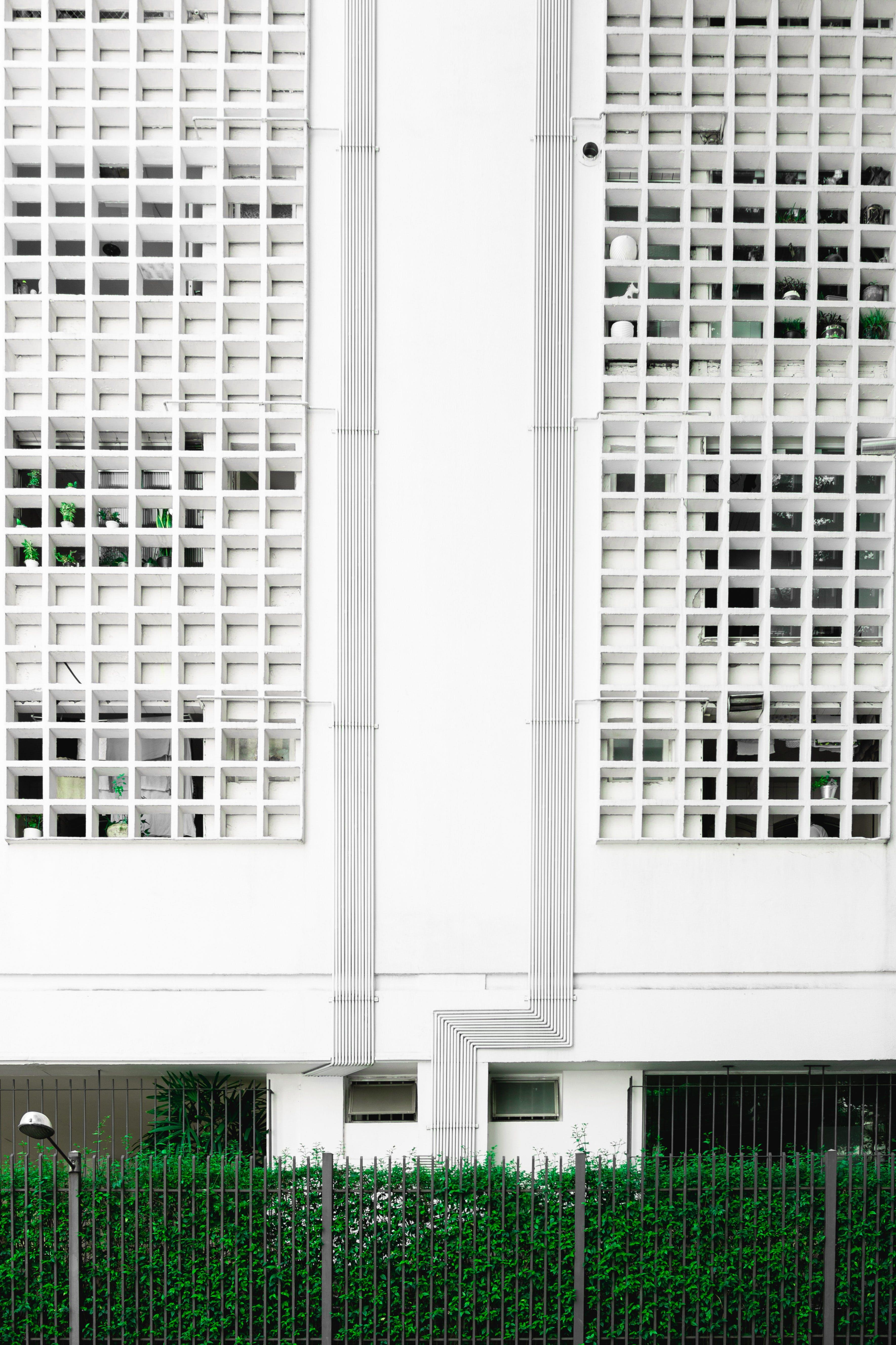 White High Rise Concrete Building