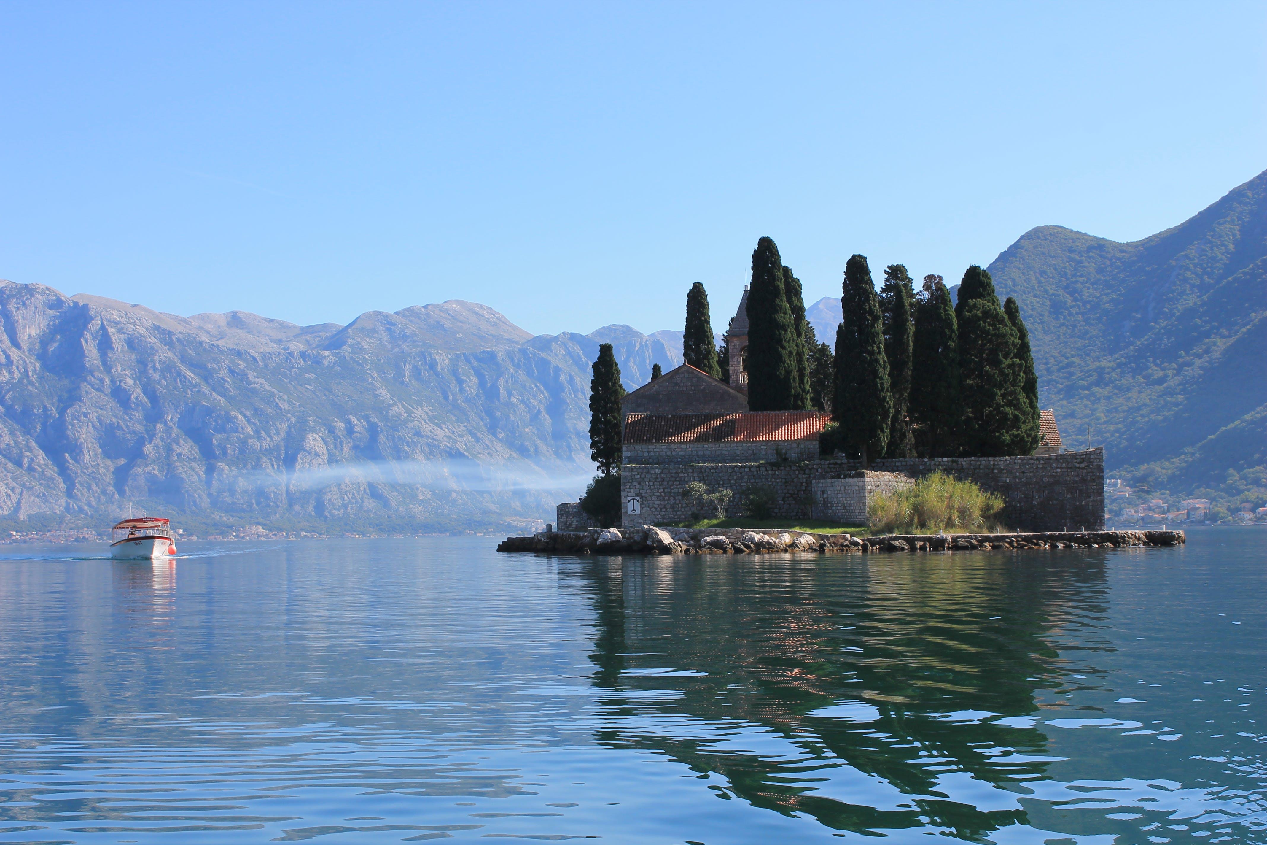 Free stock photo of blue, boat, island, nature