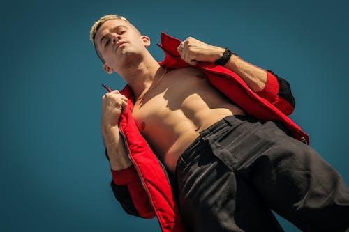 ABS, 法拉利, 红夹克, 藍天 的 免费素材照片