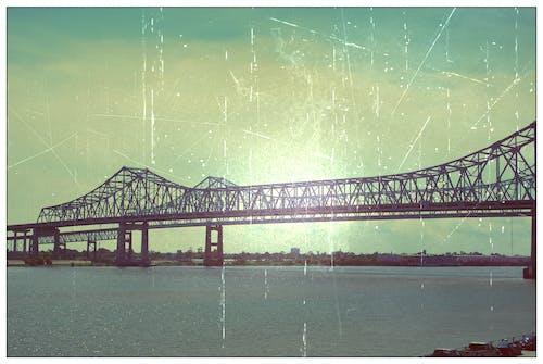 Free stock photo of bridge, city, long-bridge, mississippi-river