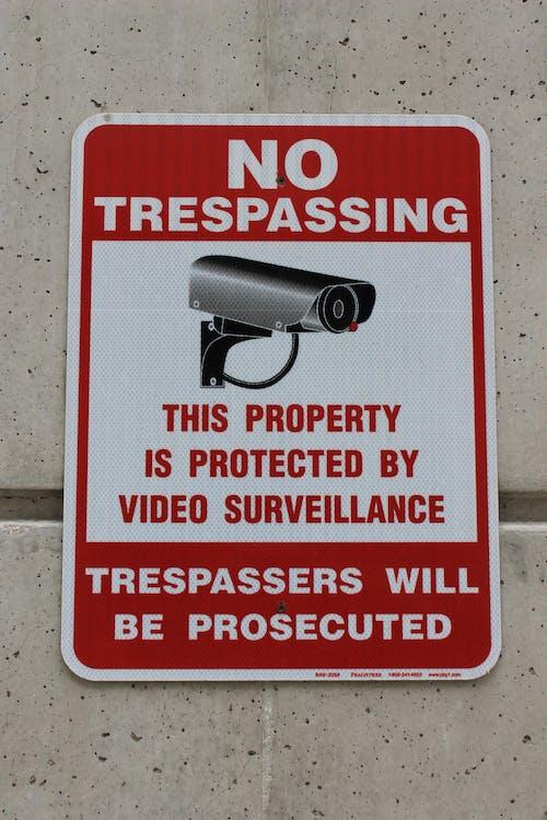 Free stock photo of camera, city, sign, surveillance
