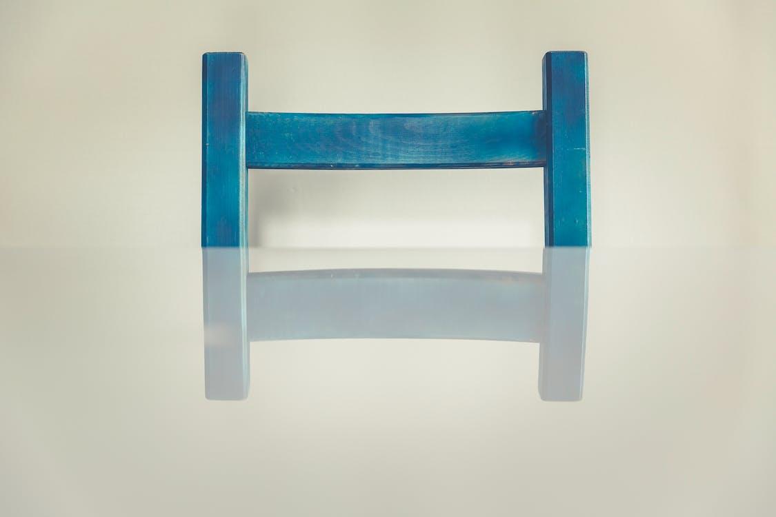 blå, inomhus, möbel