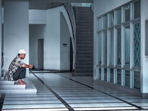 おとこ, イスラム教徒, バティック, モスクの無料の写真素材