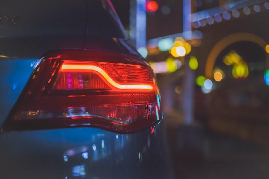 Car Crashes Broken Lights On Street