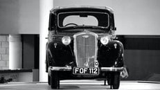 black-and-white, car, vehicle