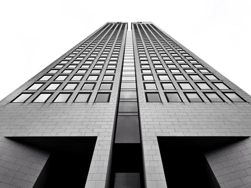 Free stock photo of architecture, black and white, building, frankfurt