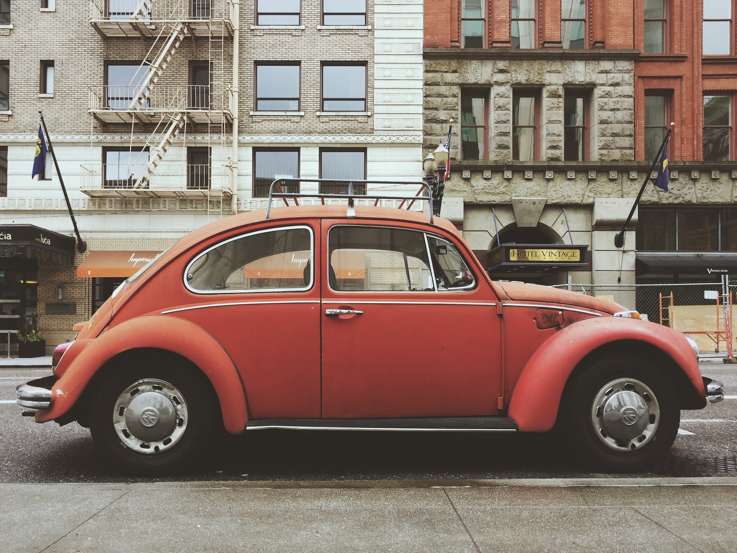 Red Volkswagen Beetle Car