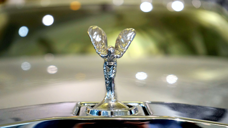 Silver-colored Car Decor