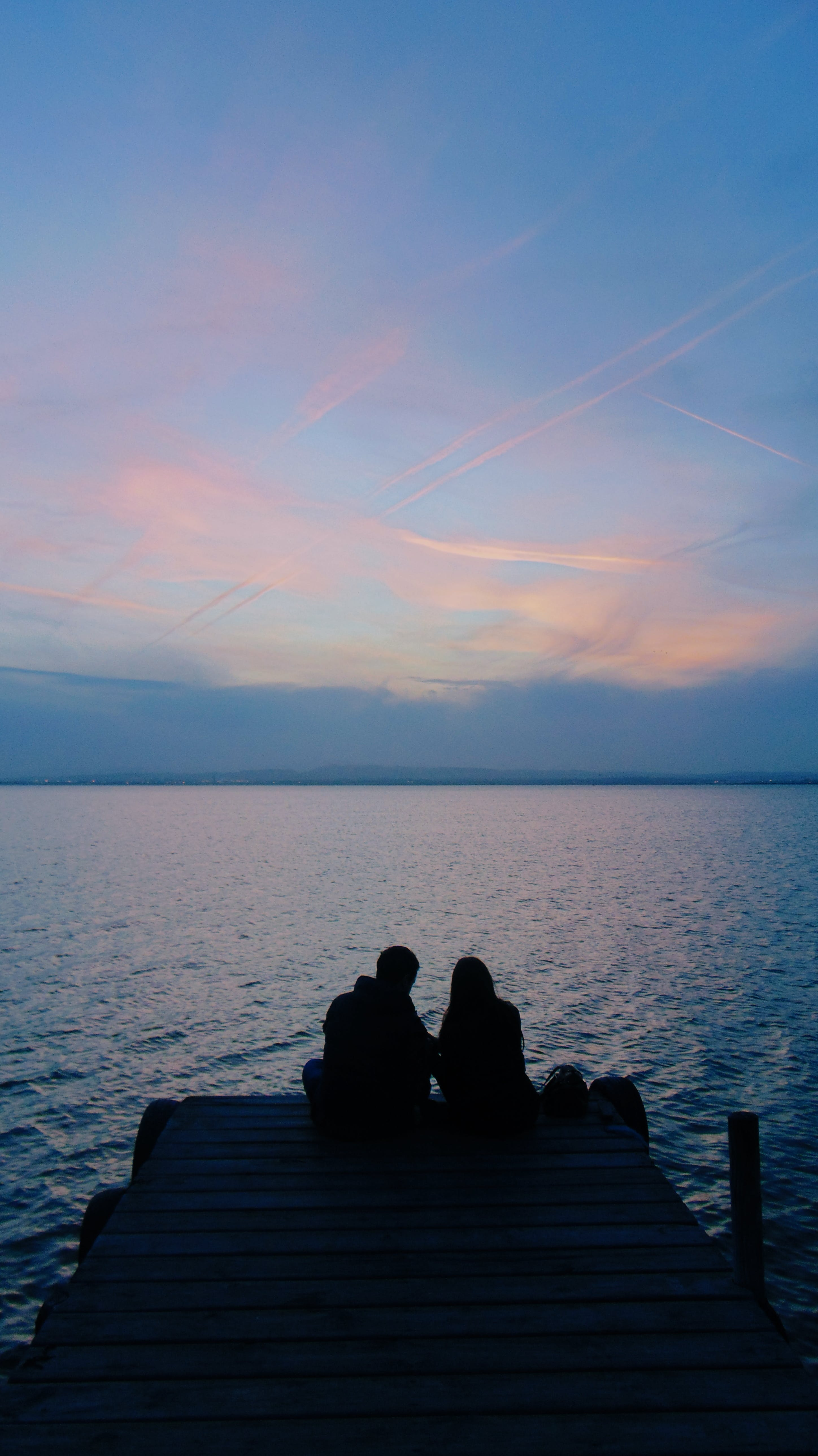 Free stock photo of beautiful, clouds, couple, dreamy