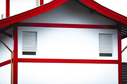 White and Red Painted Structure