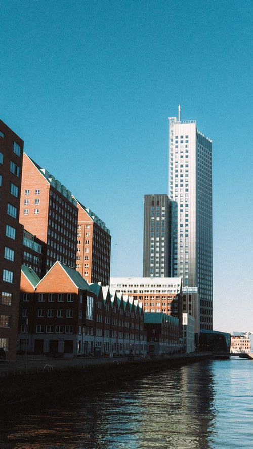 Free stock photo of architecture, cityscape, highrise, port