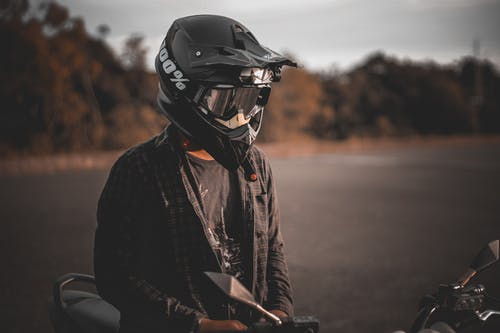 Person Wearing Helmet