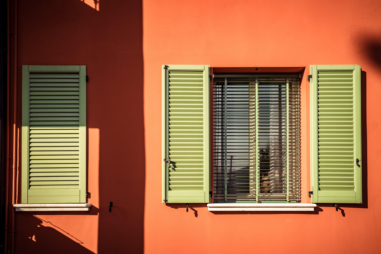 Opened Beige Window