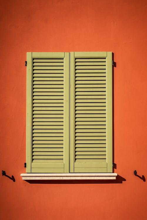 オレンジ, ビンテージ, ルーバー, 壁の無料の写真素材