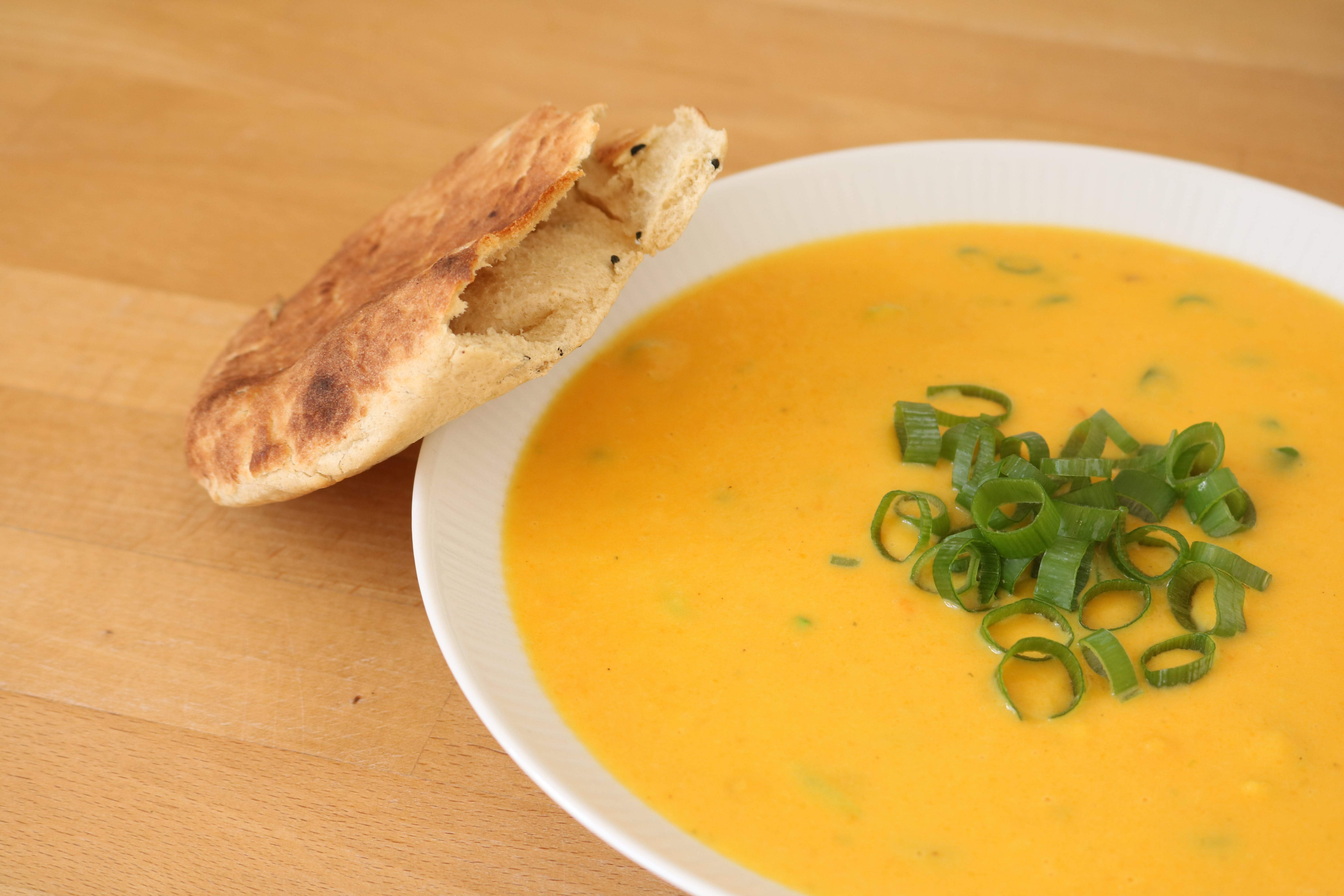 Free stock photo of bread, food, soup, yellow