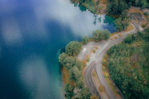 Gratis arkivbilde med asfalt, bue, dronebilde, dronefotografi