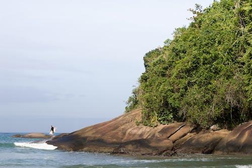 Foto d'estoc gratuïta de bellesa a la natura, cel blau, onades, paradís
