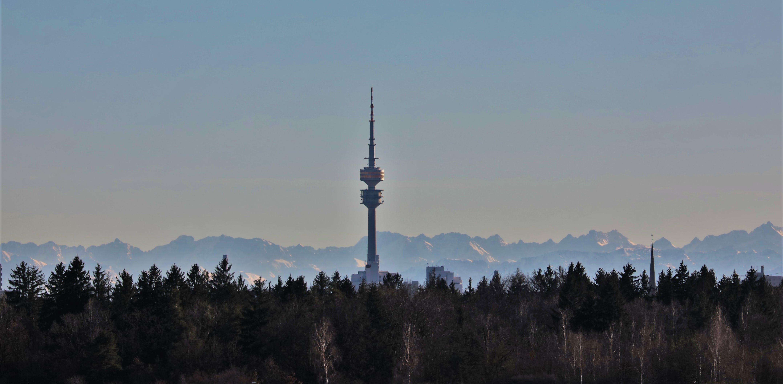 Free stock photo of Fernsehturm, mountains, munich