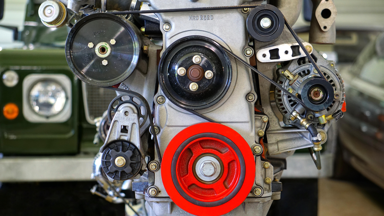 Grey and Black Engine