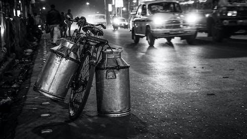Free stock photo of bicycle, black and white, india, Kolkata