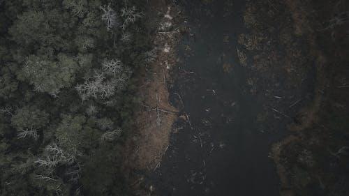 คลังภาพถ่ายฟรี ของ การถ่ายภาพโดรน, บ่อ, มืด, รู้สึก