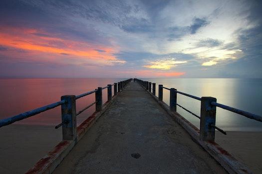Free stock photo of jetty, sea, dawn, landscape