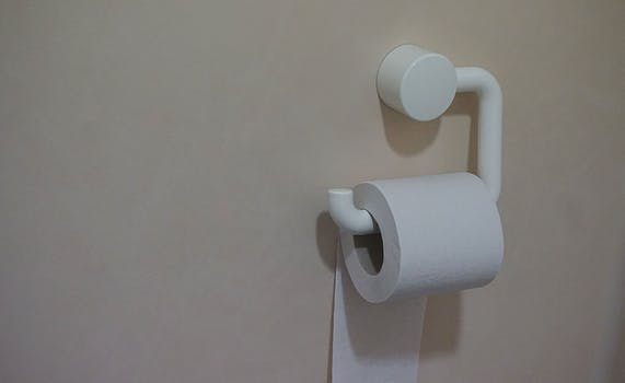 White Toilet Paper on roll used for my tip to limit consumption of paper products in my Small Ways to Save Money