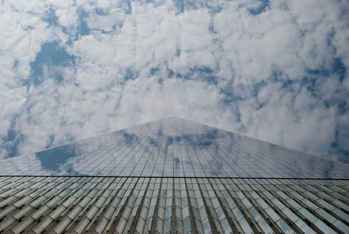 Free stock photo of blue, clouds, glass, high