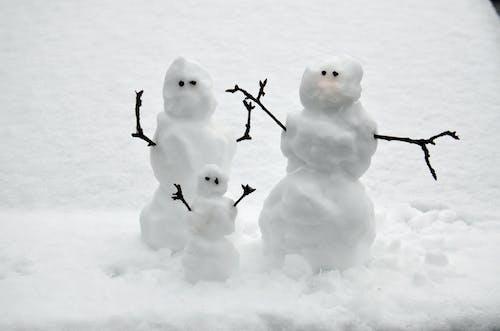 Free stock photo of snow, snowman, snowmen