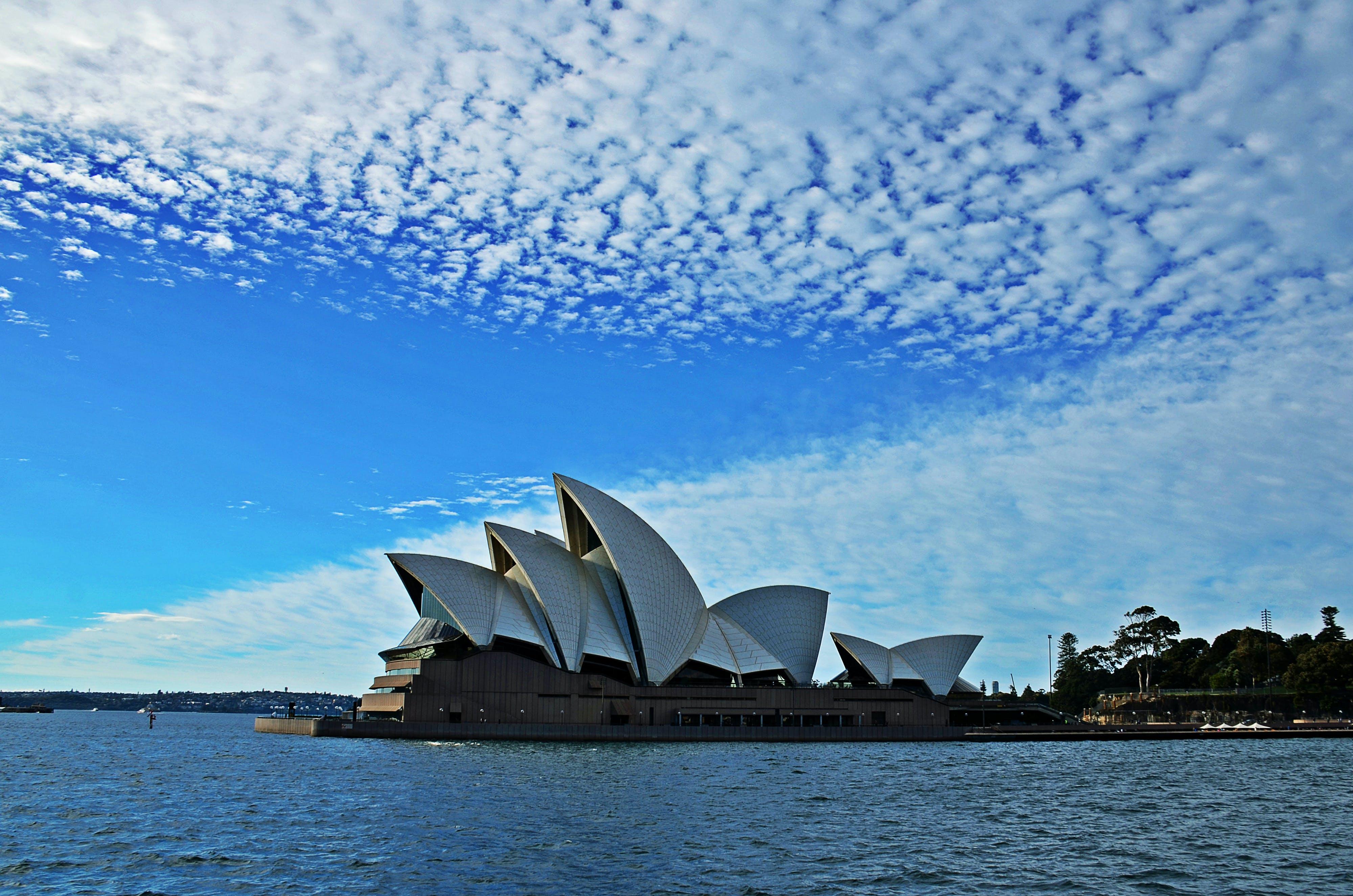 Free stock photo of clouds, sydney, blue sky, sydney opera house