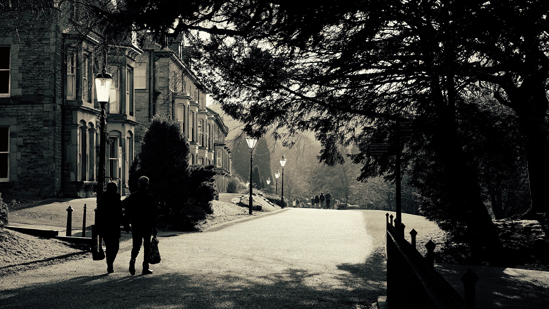 Kostenloses Stock Foto zu bäume, buxton, häuser, menschen