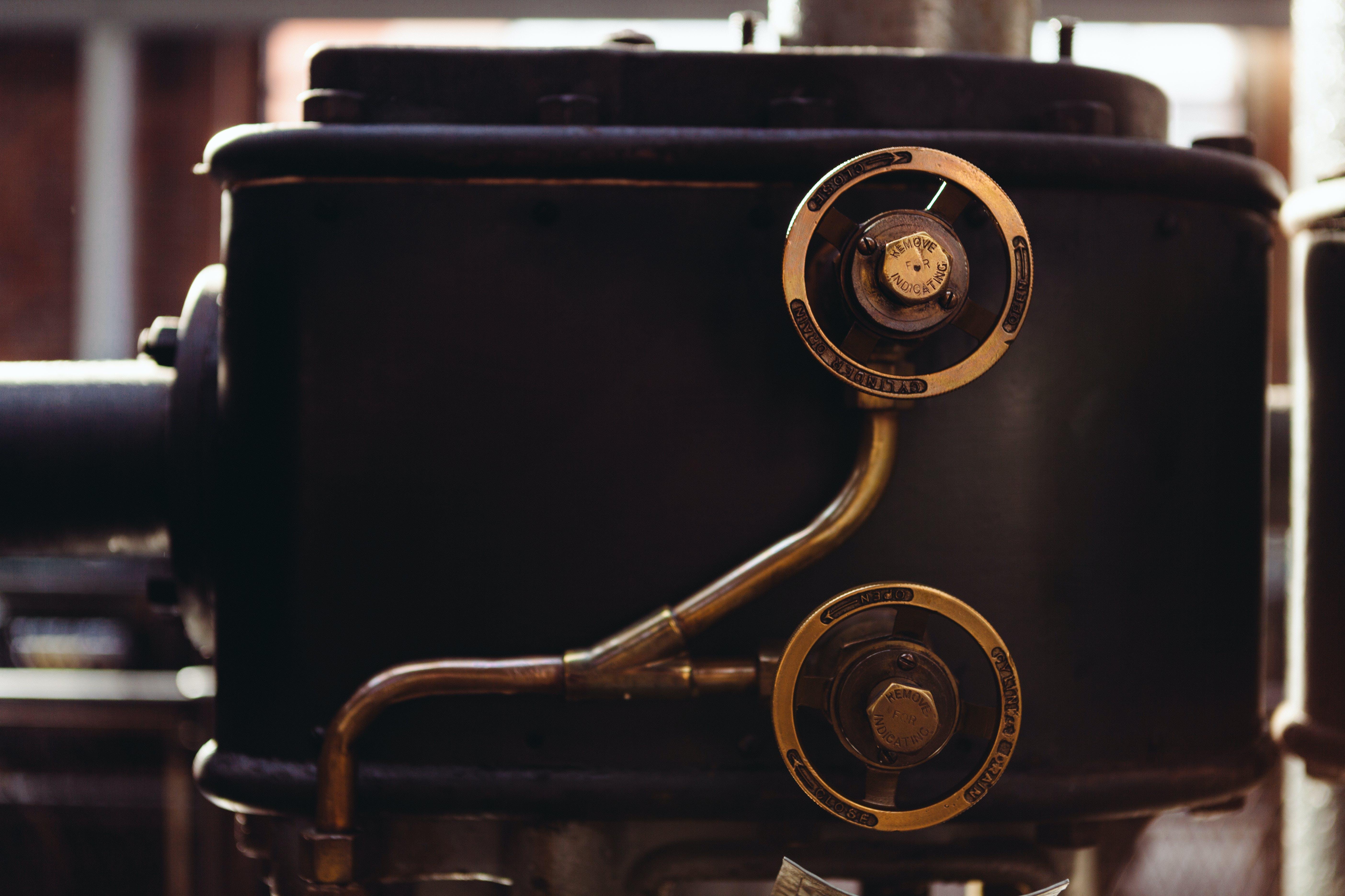 machine, old, valve