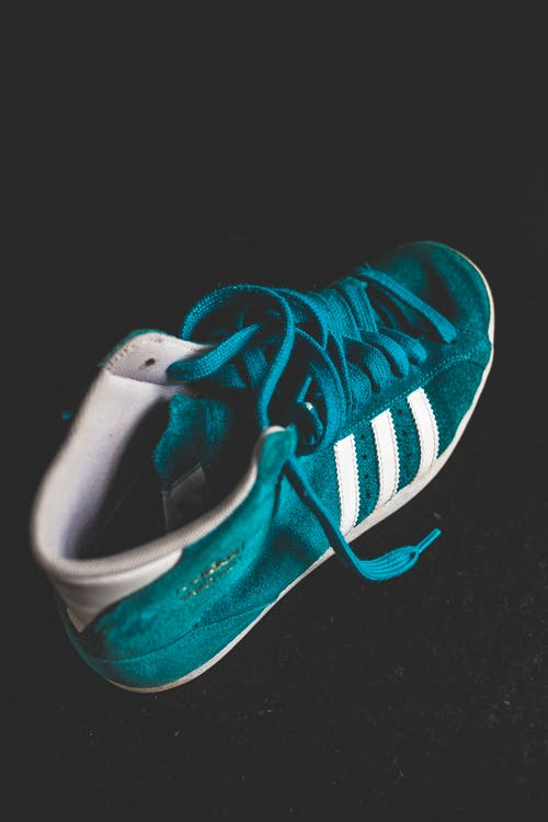 Free stock photo of adidas, black background, close-up, footwear
